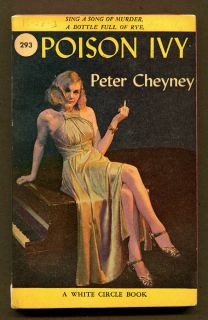 POISON IVY by Peter Cheyney  1947 White Circle Book 1st Printing