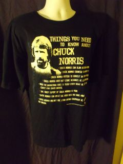 Chuck Norris Things You Need To Know About Chuck Norris T Shirt