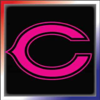 Chicago Bears Sticker Decal Ladies Pink Quality