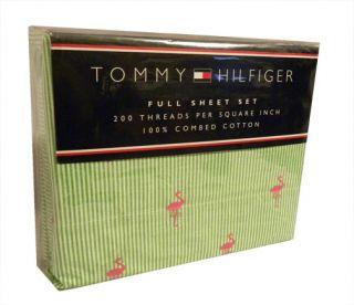 Tommy Hilfiger Christina Flamingo Stripe Sheets TW FL Q