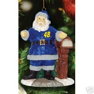 Jimmie Johnson 48 NASCAR RARE Christmas Ornament Santa