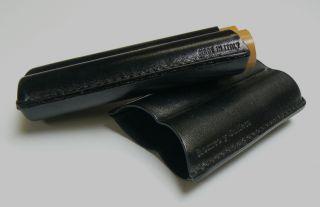 Cigar Case Black Leather 2Flute Romeo Y Julieta Robusto