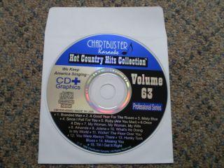Chartbuster Classic Hot Country Hits RARE 60063 or 60269 Karaoke CD G