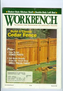 Magazine Build Classic Cedar Fence/Drill Press Table/Fence Posts