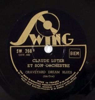 CLAUDE LUTER big band jazz 78 ~ HEAR ~ FRANCE SWING 268 Graveyard