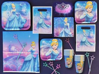 Cinderella Disney Princess Birthday Party Set Supplies