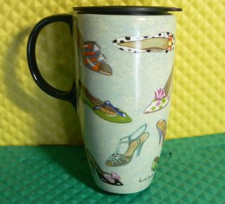 Cypress Home Ceramic Travel Mug Latte Coffee Mug Shoes
