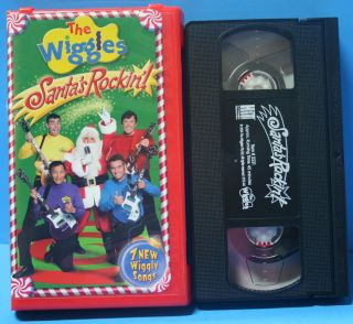 Kids Songs Video Santas Rockin Children VHS Tape Clam Case Christmas