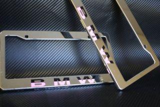 BMW License Plate Frame Plastic Chrome Black Pink All E 3 5 7 x M Z