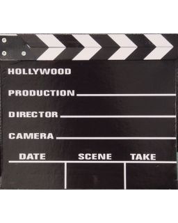 movie director. This Large Movie Clapper Board measures 10 1/2 x 12