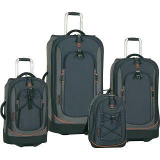 Timberland Claremont Navy Black 4 Piece Luggage Set $1360 Value New
