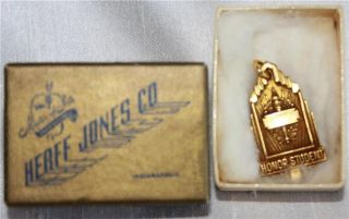 Herff Jones Co Citizenship and Honor Student Charms Gold Tone Pendant