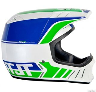 JT Racing ALS2 Full Face Helmet   White/Green 2012