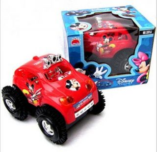 Creative Mickey mouse Electric Auto turn Car Baby child Gift Lovely