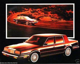 1988 Chrysler New Yorker Brochure Landau Mark Cross