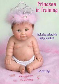 Princess in Training 5inch Resin Chubby Baby Girl Figurine Gift w