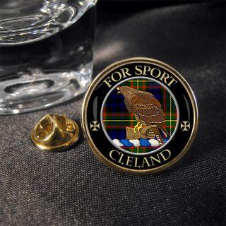Cleland Scottish Clan Crest Lapel Pin Badge Gift