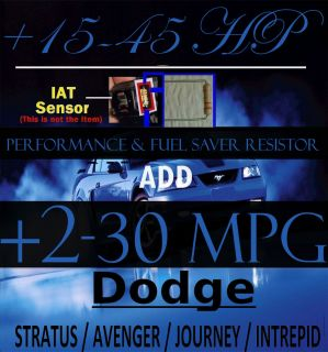 Performance Chip Gas Saver Resistor for CARs TRUCKs SUVs 1989 2013