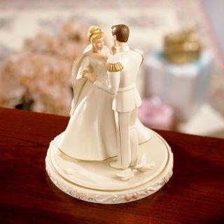Lenox Disney Cinderellas Wedding Cake Topper NIB COA