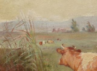 Clara Owen Listed Female Impressionist Hudson River School Cow Fall