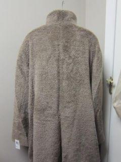 Cinzia Rocca Plus Size Wool and Alpaca A Line Coat Light Brown $1385