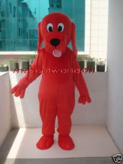 Prof Red Clifford Dog Mascot Costume Adult Size New