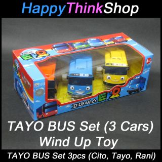 The Little Bus Tayo Bus Wind Up Toy B Set 3 Cars Tayo Cito Rani