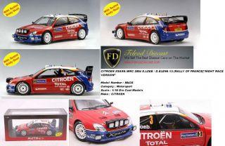 Auto Art 1/18 Sebastien Leob/ Daniel Elena Citroen Xsara WRC 2004
