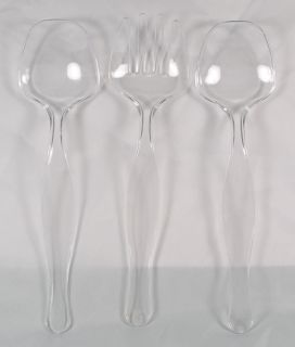 Piece Serving Set Clear Plastic Spoon Fork Party Utensils