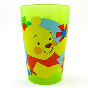 Disney Winnie The Pooh Green Clear Plastic Drinking Cup