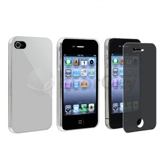Silver w Clear Side Case Privacy Filter for Sprint Verizon at T iPhone