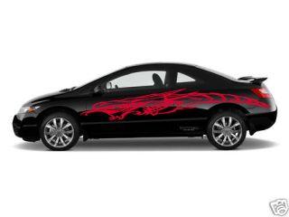 Car Vinyl Side Graphics Dragon Honda Civic Any Car 009