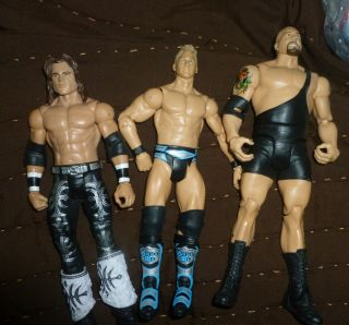 JOHN MORRISON CHRIS JERICHO BIG SHOW wwe action figure MATTEL lot