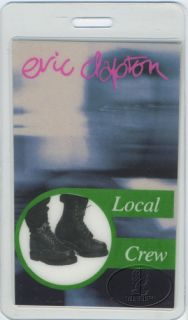 backstage pass for the ERIC CLAPTON 1994 CRADLE TO THE GRAVE TOUR