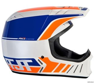 JT Racing ALS2 Full Face Helmet   White/Blue 2012