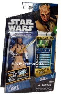 Star Wars action figure. Includes Battle Game card, die and base.