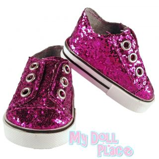 Clothes Fit 18 American Girl Purple Glitter Sneaker Gym Tennis Shoes