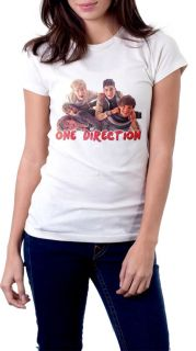 ONE DIRECTION T Shirt New 1D Boy Band White Tee Size S,M,L,XL