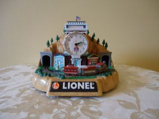 Lionel 100th Anniversary Alarm Clock With Train Sounds And Moving