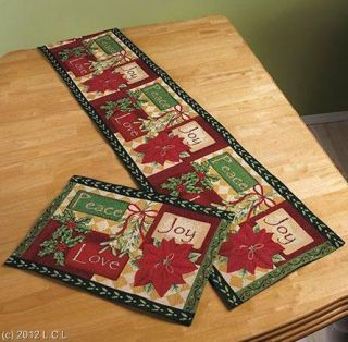 And and Pictures Runners Christmas placemats runners table tapestry Holiday  Winter Placemats Table