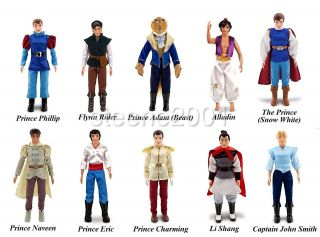 Disney Princess Classic 12 Prince Doll Set of 10 Gift Set Collection
