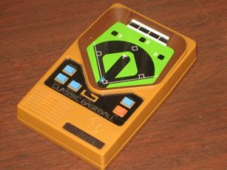 mattel baseball electronic handheld toy game classic search