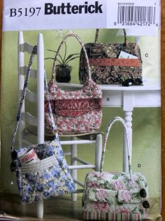 Pattern 5197   Quilted fabric Should Bags purses tote bags lined