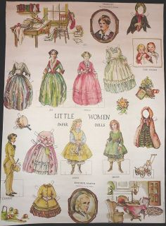 Paper Dolls Evergreen Press Wrapping Paper 6 Dolls Clothes
