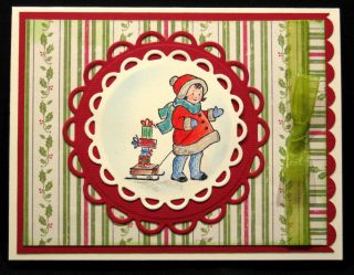Christmas Card, Handmade, SU Greeting Card Kids, TMDG (X 14)