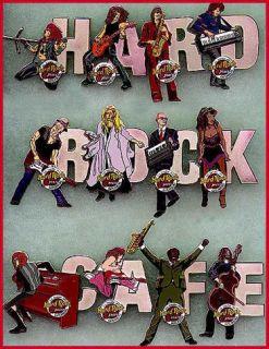 Hard Rock Cafe Atlantic City 2001 Musician Letter Series Pin 8 12 K