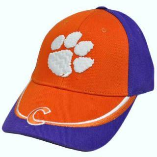 NCAA Clemson Tigers Purple Orange White Baseball Hat Cap Construct