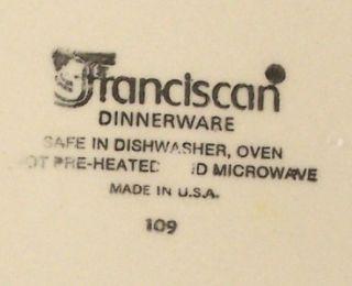 Franciscan China Desert Rose 8 Salad Dessert Plates, USA Mark
