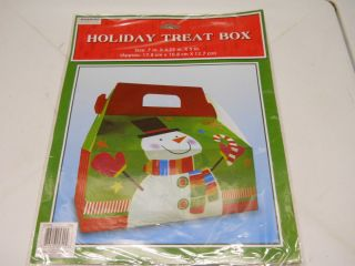 NEW CHRISTMAS HOLIDAY TREAT BOX SNOWMAN FOR GIFT GIVING COOKIES TREATS