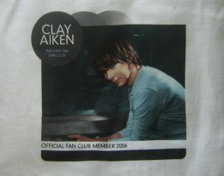 Clay Aiken Official Fan Club Member 2006 T Shirt XL New Mint